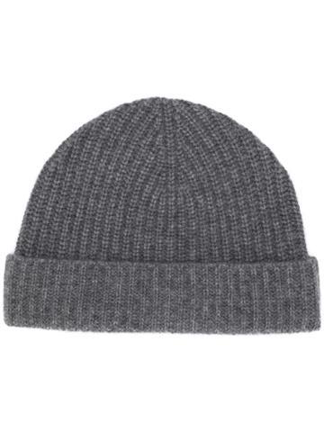 Aspesi Fine Knit Beanie - Grey