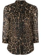 Samantha Sung Katherine Leopard Print Shirt - Brown