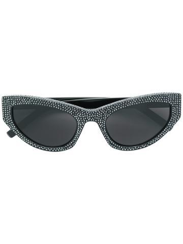 Saint Laurent Eyewear 215 Grace Embellished Cat-eye Sunglasses - Black