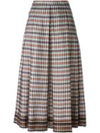 No21 Checked Pleated Skirt