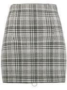 Off-white Zipped Check Mini Skirt - Black
