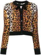 Love Moschino Leopard Print Cardigan - Multicolour