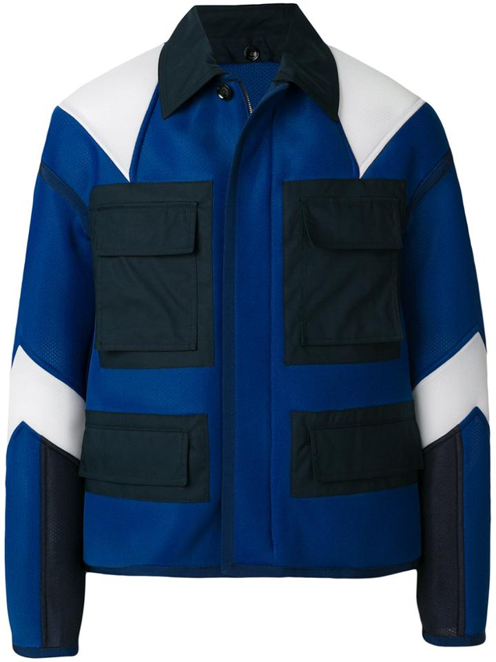 Valentino Color-blocked Jacket - Blue