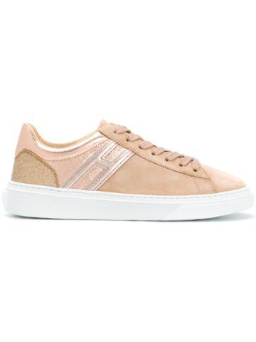 Hogan Platform Lace-up Sneakers - Nude & Neutrals