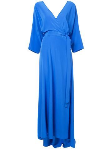 Dvf Diane Von Furstenberg Wrap Front Maxi Dress - Blue