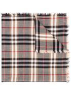 Burberry Check Scarf - Brown