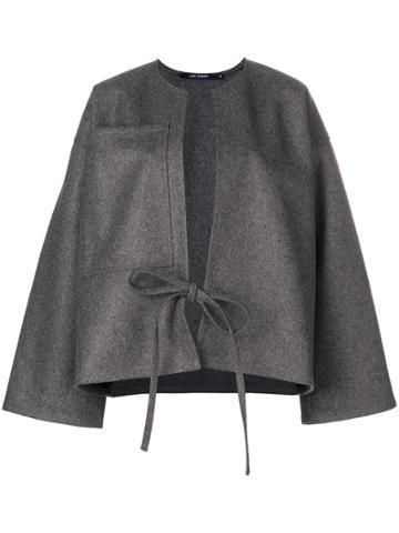 Sofie D'hoore Tie Front Woolen Jacket - Grey
