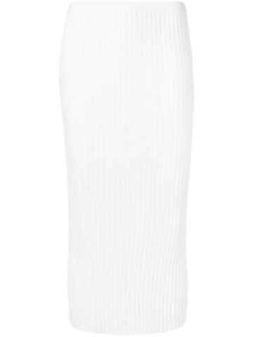 Toteme Knitted Midi Skirt - White