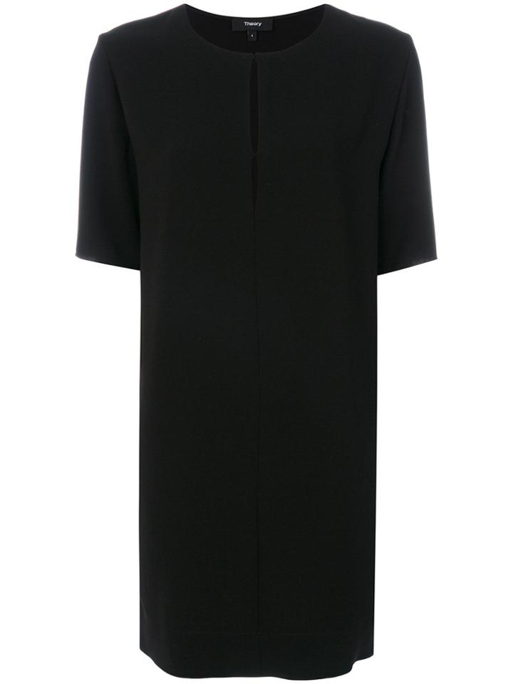 Theory Classic Shift Dress - Black