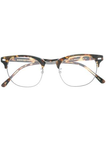 Moscot 'yukel' Glasses, Brown, Acetate