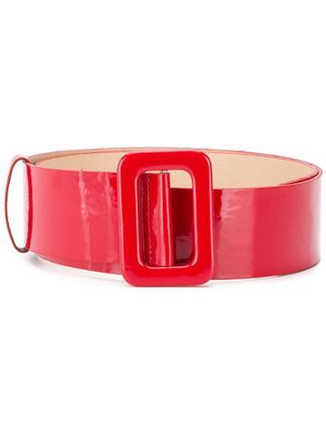 Federica Tosi Adjustable Varnished Belt - Red