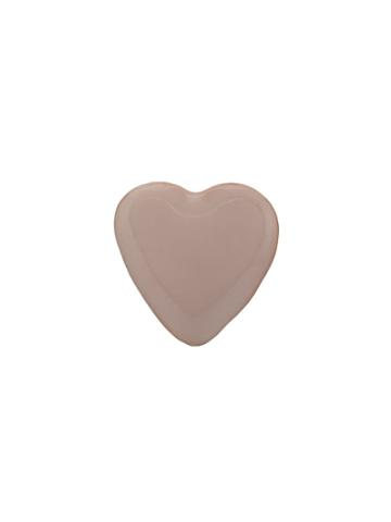 Alison Lou 14kt Yellow Gold Tiny Heart Stud Earring - Pink