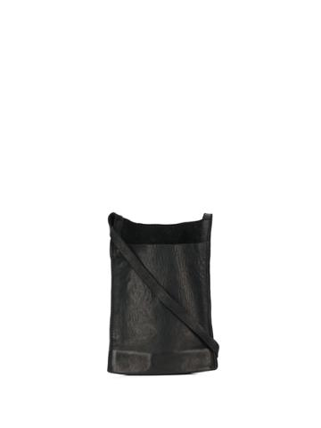 Guidi Lanyard Pouch Bag - Black