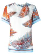 Emilio Pucci Feather Print Shortsleeved T-shirt