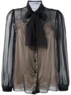 Dolce & Gabbana Semi-sheer Pussybow Blouse