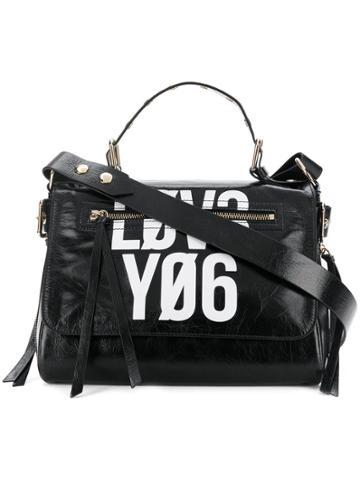 Red Valentino Contrast Tote Bag - Black