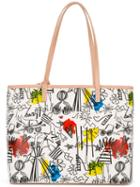 Alice+olivia - Doodle Print Tote - Women - Leather - One Size, Leather