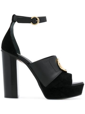 Chloé Chloé Platform Sandals - Black