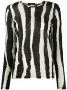 Proenza Schouler Zebra Printed T-shirt - Black