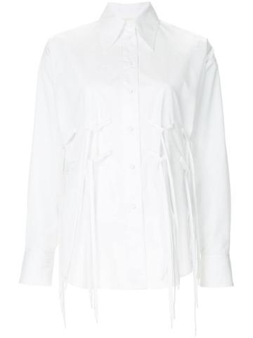 Ports 1961 Tie Laces Detail Shirt - White