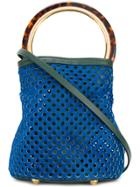 Marni Pannier Tote Bag - Blue