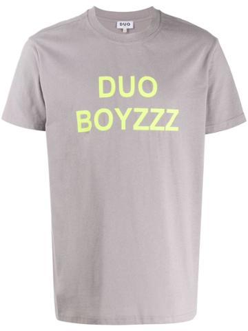 Duo Duo Bouzzz Print T-shirt - Grey