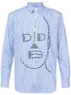 Comme Des Garçons Shirt Striped Shirt - Blue