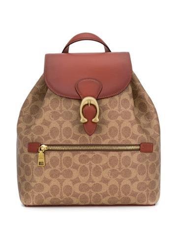 Coach Evie Monogram Backpack - Neutrals