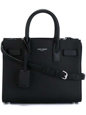 Saint Laurent - Nano 'sac De Jour' Tote Bag - Women - Calf Leather/leather - One Size, Black, Calf Leather/leather