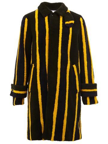 Sacai Striped Shearling Coat