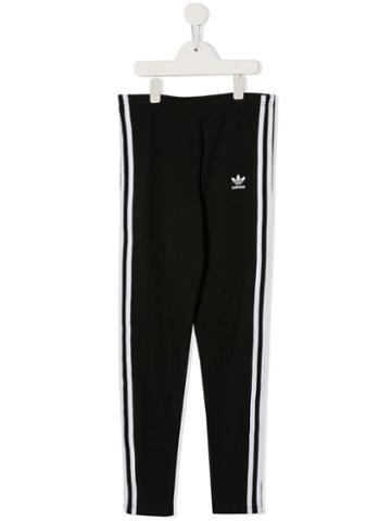 Adidas Kids Teen 3-stripes Leggings - Black