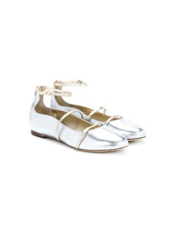 Prosperine Kids Leather Ballerina Shoes - Metallic