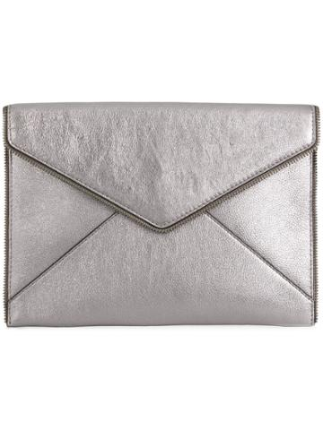 Rebecca Minkoff Envelope Shaped Clutch - Grey