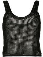 Chanel Pre-owned Knitted Mesh Vest - Black