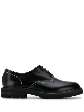 Low Brand Lace Up Oxford Shoes - Black