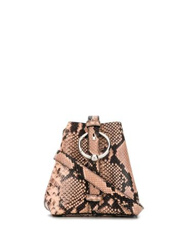 Rebecca Minkoff Kate Embossed Bucket Bag - Black