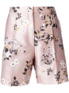 Rochas Floral Print Shorts - Nude & Neutrals