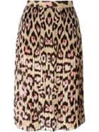 Givenchy Leopard Print Skirt