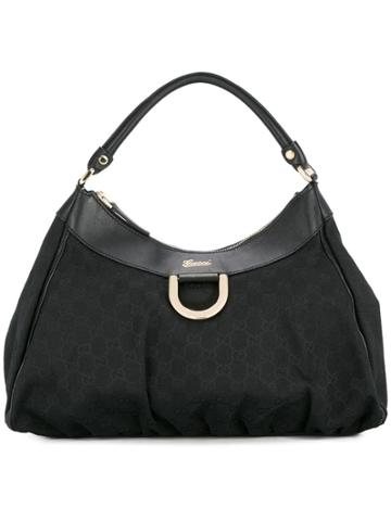 Gucci Vintage Gg Pattern Hand Bag - Black