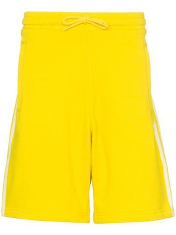 Adidas 3-stripe Cotton Shorts - Yellow