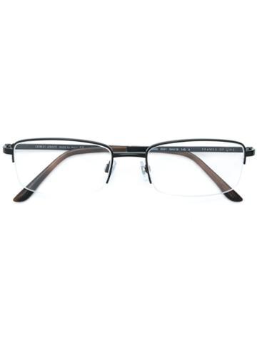 Giorgio Armani - Square-frame Glasses - Men - Acetate/metal - 54, Black, Acetate/metal