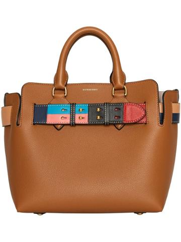 Burberry The Small Leather Colour Block Detail Belt Bag - Brown