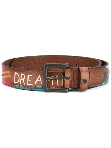 Htc Hollywood Trading Company - California Dream Belt - Women - Leather - 75, Nude/neutrals, Leather
