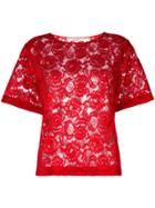 Miahatami Floral Lace Top - Red