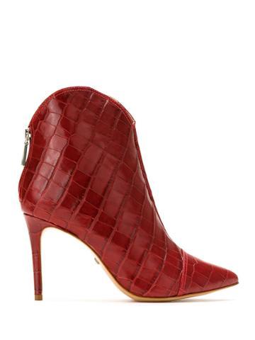 Schutz Schutz S0172304070004 Scarlet Artificial->artificial Leather -