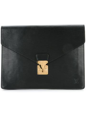 Louis Vuitton Vintage Epi Porte Document Handbag - Black