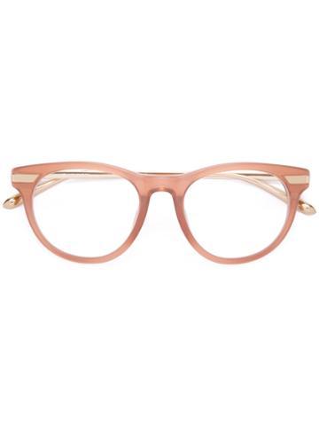 Linda Farrow Round Frame Glasses, Nude/neutrals, Acetate/metal