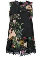 P.a.r.o.s.h. Floral Print Top - Black