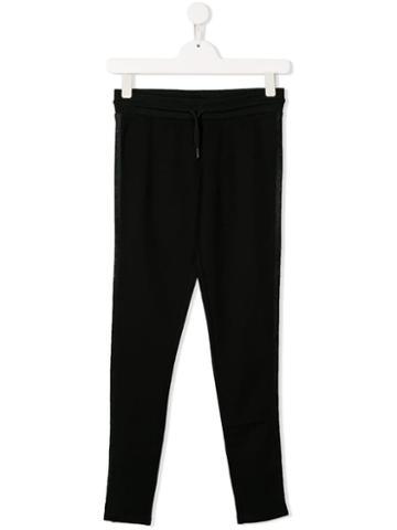 Dkny Kids Drawstring Waist Trousers - Black