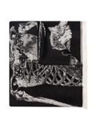 Alexander Mcqueen King And Queen Embroidered Shawl - Black